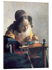 Acrylic print  The lace clipper - Jan Vermeer
