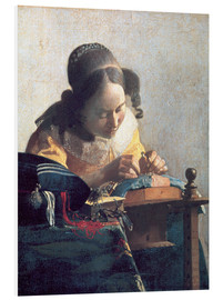 Foam board print  The lace clipper - Jan Vermeer
