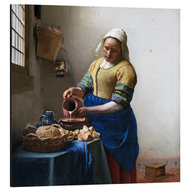 Aluminium print  The Milkmaid - Jan Vermeer