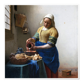 Premium poster  The Milkmaid - Jan Vermeer