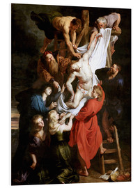 Foam board print  Descent from the Cross - Peter Paul Rubens