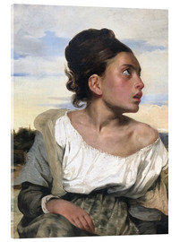 Acrylic print  Orphan in the Cemetery - Eugene Delacroix