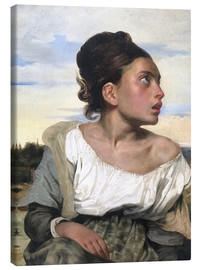 Canvas print  Orphan in the Cemetery - Eugene Delacroix