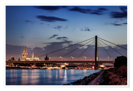 Premium poster  Daybreak in Cologne - Tanja Arnold Photography