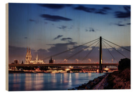 Wood print  Daybreak in Cologne - Tanja Arnold Photography