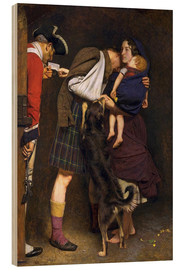 Wood print  The Order of Release - Sir John Everett Millais