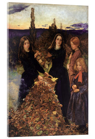 Acrylic glass  Autumn Leaves  - Sir John Everett Millais