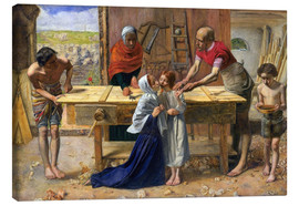 Canvas print  Christ in the house of his parents - Sir John Everett Millais