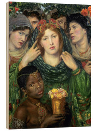 Wood print  The beloved - Dante Charles Gabriel Rossetti