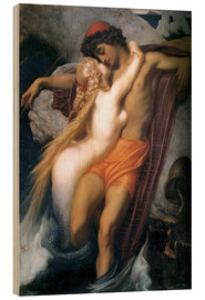 Wood print  The Fisherman and the Syren - Frederic Leighton