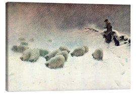 Canvas print  The Cheerless Winter's Day - Joseph Farquharson