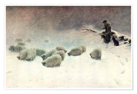 Premium poster  The Cheerless Winter's Day - Joseph Farquharson