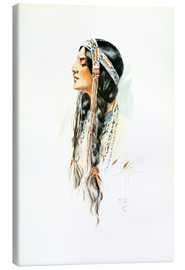 Canvas  Red Indian squaw - Harrison Fisher