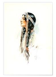 Premium poster Red Indian squaw