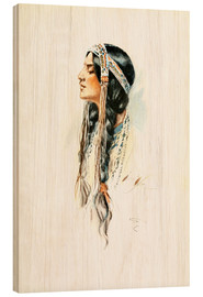 Wood  Red Indian squaw - Harrison Fisher