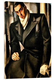 Acrylic glass  Portrait Of A Man - Tamara de Lempicka