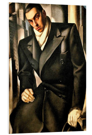 Foam board print  Portrait Of A Man - Tamara de Lempicka