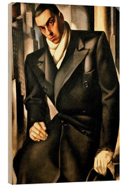 Wood print  Portrait Of A Man - Tamara de Lempicka