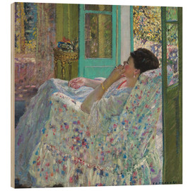 Wood print  Afternoon, Yellow Room - Frederick Carl Frieseke