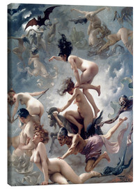 Canvas  Witches going to their Sabbath - Luis Ricardo Falero