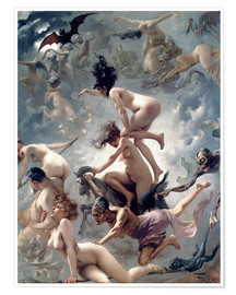 Poster  Witches going to their Sabbath - Luis Ricardo Falero