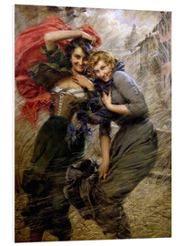 Foam board print  A Windy Day - Gaetano Bellei