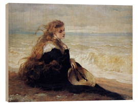 Wood print  On the Seashore - George Elgar Hicks