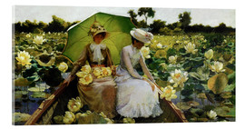 Acrylic glass  Lotus Lilies - Charles Courtney Curran