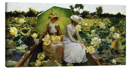 Canvas  Lotus Lilies - Charles Courtney Curran