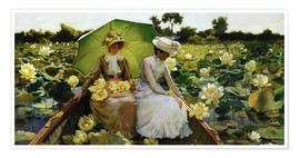 Premium poster  Lotus Lilies - Charles Courtney Curran