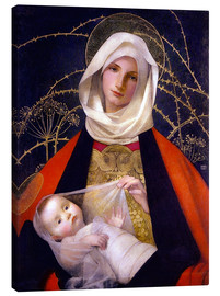 Canvas print  Madonna and Child - Marianne Stokes
