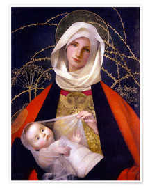 Poster  Madonna and Child - Marianne Stokes