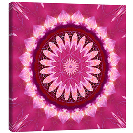 Christine Bässler - Mandala pinkblossom with flower of life
