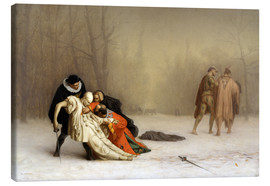 Canvas print  The Duel After the Masquerade - Jean Leon Gerome