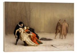 Wood  The Duel After the Masquerade  - Jean Leon Gerome
