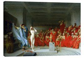 Canvas print  Phryne before the Areopagus - Jean Leon Gerome
