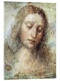 Acrylic print  head of christ - Leonardo da Vinci
