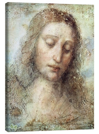 Canvas print  head of christ - Leonardo da Vinci