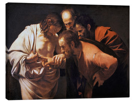 Canvas print  The Doubting Thomas - Michelangelo Merisi (Caravaggio)