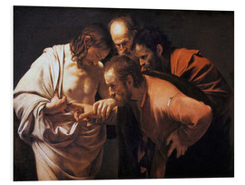 Foam board print  The Doubting Thomas - Michelangelo Merisi (Caravaggio)