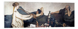 Foam board print  The Siesta - Lawrence Alma-Tadema