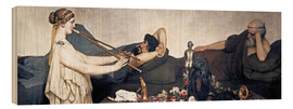 Wood print  The Siesta - Lawrence Alma-Tadema