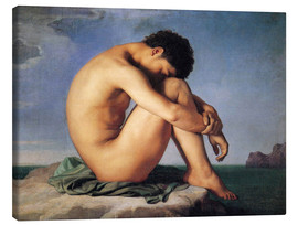 Canvas print  Young man beside the sea - Hippolyte Flandrin