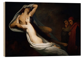 Wood print  Francesca and Paolo - Ary Scheffer