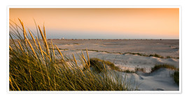 Premium poster Amrum sunset