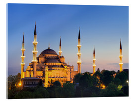 Acrylic glass  Blue Mosque at twilight - Circumnavigation