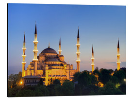 Alu-Dibond  Blue Mosque at twilight - Circumnavigation