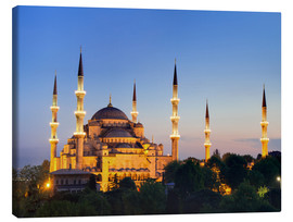 Canvas  Blue Mosque at twilight - Circumnavigation