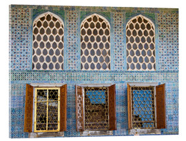 Acrylic print  Islamic windows of the Topkapi palace - Circumnavigation