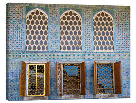 Canvas  Islamic windows of the Topkapi palace - Circumnavigation